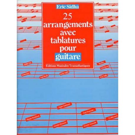 25 arrangements avec tablatures pour guitare E.SIDHA