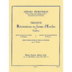 30 récréations en forme d'études pour trombone PICHAUREAU