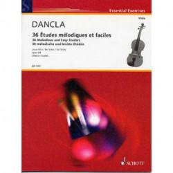 36 Études mélodiques op. 84 - pour alto - dancla - schott