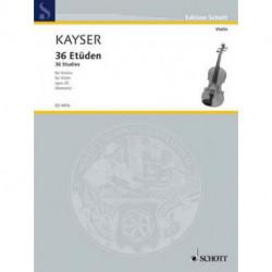 36 études OP 20 pour violon KAYSER - SCHOTT