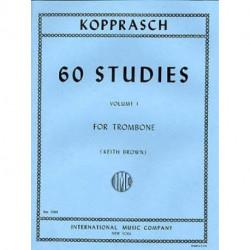 60 études vol 1 keith brown - Kopprasch - trombone