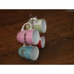 Mugs par 4 avecsupport